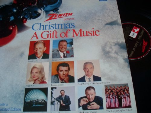 Zenith Presents Christmas, A Gift Of Music Vinyl LP Record by Roger Wagner Chorale, Hollywood Bowl Symphony, Peggy Lee, Jackie Gleason and Bing Crosby