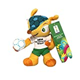 Fuleco plush 13 cm ball under the arm with metal key hook - The official mascot of the 2014 FIFA World Cup Brazil