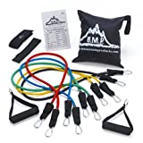 Black Mountain Products Resistance Band Set With Door Anchor, Ankle Strap, Exercise Chart, And Resistance Band...