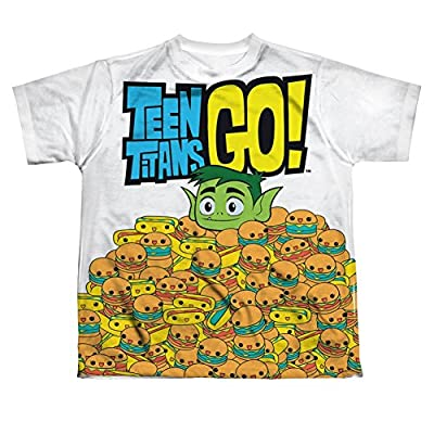 Sublimation Youth: Burgers & Dogs Teen Titans Go T-Shirt