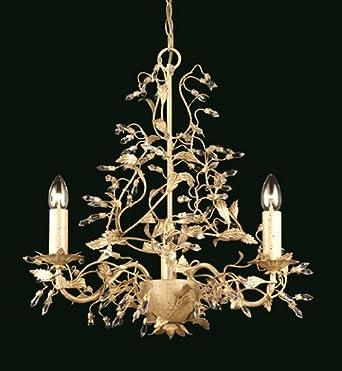 Cream leaf chandelier