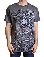 Disney Men's Mickey Mouse 1928 T-Shirt Size Large in Grey Color