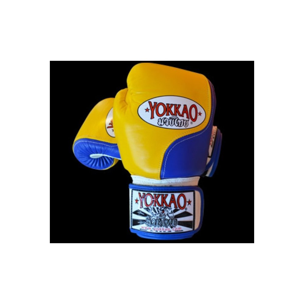 Yokkao Blue/Yellow Boxing Gloves