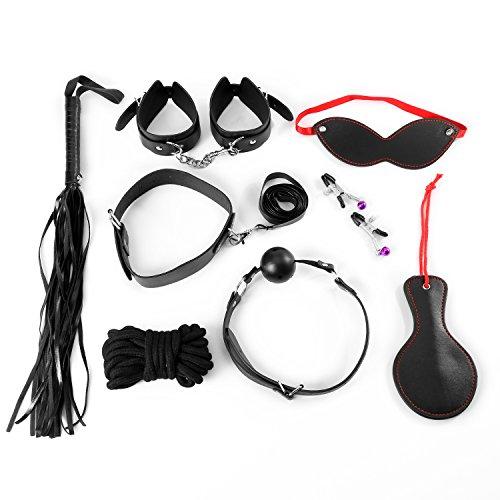 Bondage Set, URLOVE 8 Stück Sex Werkzeuge Restraint System Slave S&M Sexspielzeug