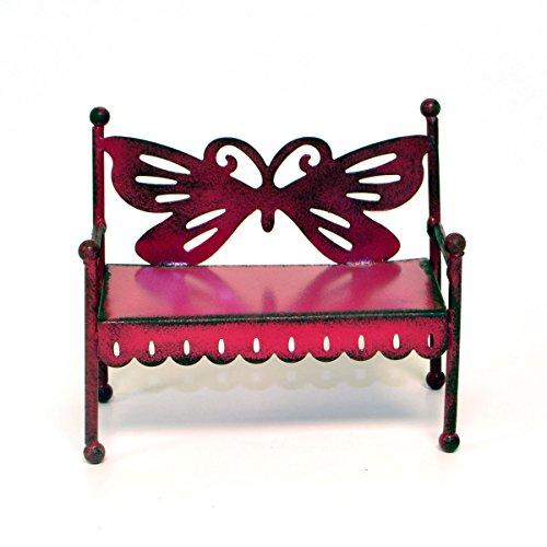 Miniature Fairy Garden Butterfly Bench