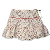 Cool Island - Girls 3 Tier Wrinkle Look Skirt, White, Red