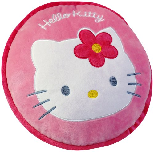 baumeister de fun house 711239 hello kitty round cushion 30 x 8 cm. Black Bedroom Furniture Sets. Home Design Ideas