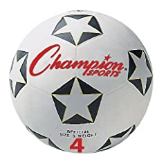 Buy Champion Sports Rubber Soccer Ball by Champion Sports