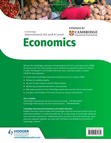 Cambridge International AS and A Level Economics (Cambridge Intl As & a Level)