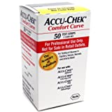 ACCU-CHEK Comfort Curve Test Strips, 50-Count Box