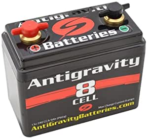 Antigravity Compact Lithium Motorcycle Battery 240 CCA - 3 Year Warranty DK-AG-8CL
