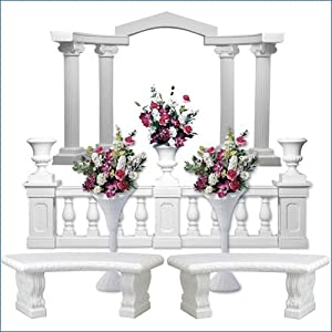 wedding reception decoration ideas, roman column starter set