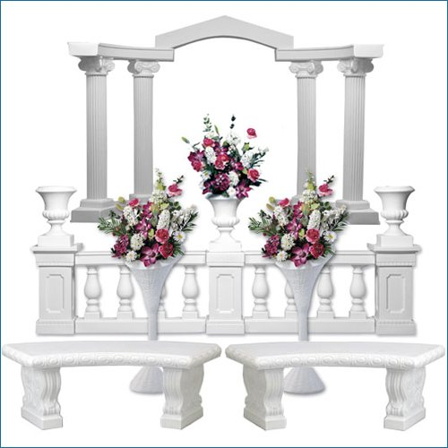 Wedding and Event Roman Empire Column Backdrop Starter Set