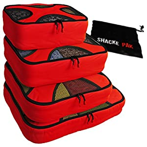 Shacke Pak - 4 Set Packing Cubes and Laundry Bag