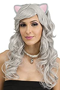 Fun World Grey Mouse Fantasy Wig with Ears Adult Costume