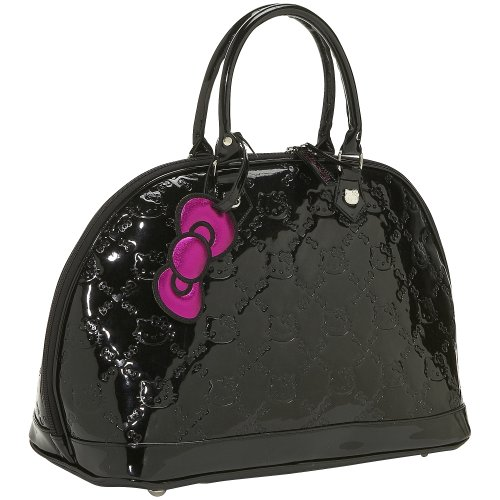 Loungefly Hello Kitty Black Patent Embossed Bag (Black)