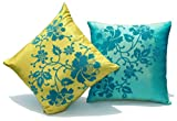 Sriam Veronica Reversible Flock Print Cushion Cover
