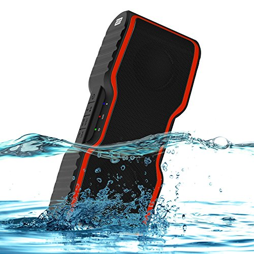 Bluetooth Speakers, AOMAIS SPORT II Portable Wireless Outdoor Waterproof IP67 Bluetooth 4.0 Speaker:Strong Subwoofer with 20w Bass,Stereo-Pairing Funktion,Build-in Mircrophone, for iPhone7/Mobile phone/Tablet/PC/Laptop(orange)