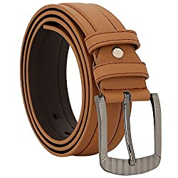 Comfort Zone India Tan Plain Men's Belt