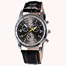 buy Gotd Luxury Fashion Crocodile Faux Leather Mens Analog Watch Wrist Watches (Black )