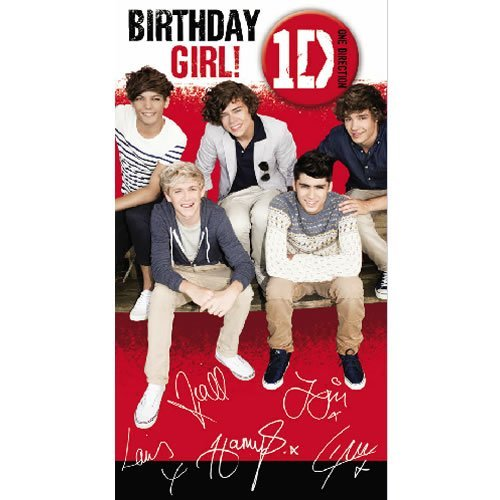 Logo Cards 1D One Direction - Birthday Girl Card
