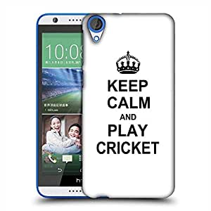 Snoogg Keep Calm and Play Cricket Designer Protective Back Case Cover For HTC Desire 820