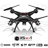 X5SC Quadcopter RC Helicopter Drones -HD 720p Cam, Easy Control Headless Mode, 3D Flip, 6 Axis Gyroscope, 4 Channels Radio Control, KiiToys USA Warranty & Tech Support