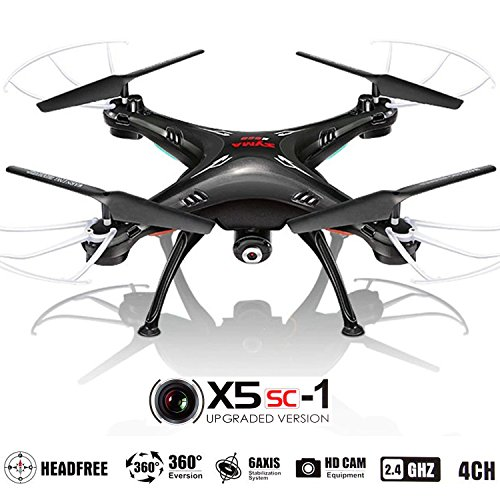 X5SC Quadcopter RC Helicopter Drones -HD 720p cam