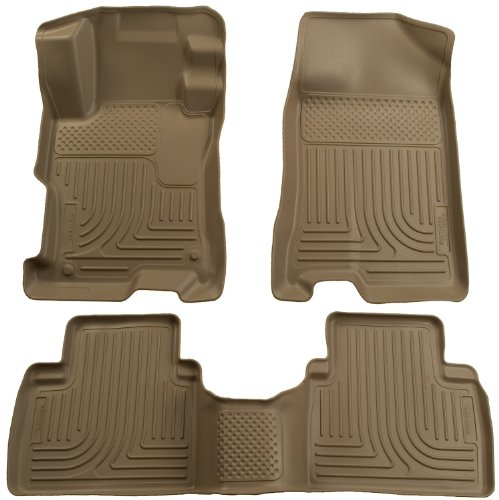 Husky Liners Custom Fit Front and Second Seat Floor Liner Set for Select Toyota/Pontiac Models (Tan) (2012 Toyota Corolla Trunk Liner compare prices)