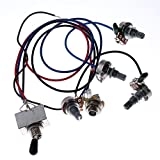 1 set Wiring Harness Prewired 2v2t 3way Toggle Switch Jack 500k Pots for Gibson Replacement Guitar