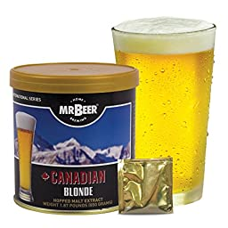 Mr. Beer Canadian Blonde Homebrewing Craft Beer Refill Kit