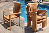 Grade-A Teak Wood Luxurious Stacking Arm / Captain Dining Chair [Model