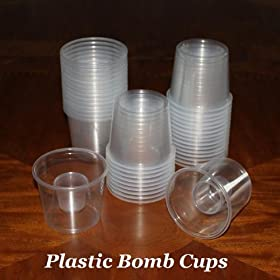 500   Disposable Plastic Power Bomber Shot Cups Or Jager Bomb Glasses:  Kitchen U0026 Dining