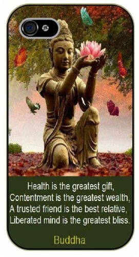 iPhone 5 / 5s Health is the greatest gift. Buddha - Black plastic case / Inspirational and motivational life quotes