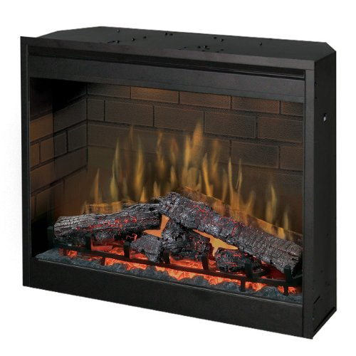 "Dimplex Df3015 30"" Self-Trimming Purifire® Electric Firebox With 1000W Heater, Black"