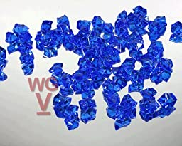 10 - 1 Pound bags of Acrylice Ice Rocks Vase Fillers Table Scatter (Royal Blue)