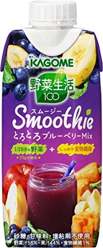 カゴメ 野菜生活100 Smoothie とろとろブルーベリーMix 330ml×12本