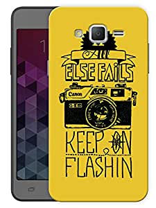 "Humor Gang Flashing Camera Quote Printed Designer Mobile Back Cover For ""Samsung Galaxy On5"" (3D, Matte, Premium Quality Snap On Case)"