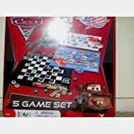 Disney Pixar Cars 2 5 Game Set includes checkers, Dominoes, Grand Prix, Pairs Game and 2 card…