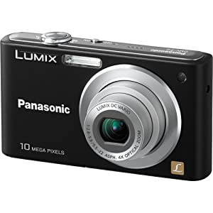 Panasonic DMC-F2K Lumix 10.1MP Digital Camera with 4x Optical Zoom (Black)