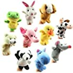 WXBUY Baby Finger Puppets Plush Cloth...