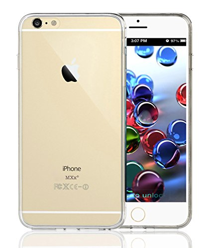 iPhone 6, Clear Case, Crystal Clear Case, MXx® Hybrid Bumper Case With, Ultra Clear Back Panel Cover, Clear Case, Silicone Integrated Shock-absorbing Bumper, Clear Design, Panel Protective Cover Cases, Ultra Slim, Bumper Cases, (For Apple iPhone 6 4.7)