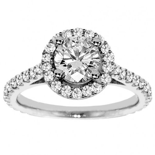 1.40 CT TW Brilliant Shared Prong Round Diamond