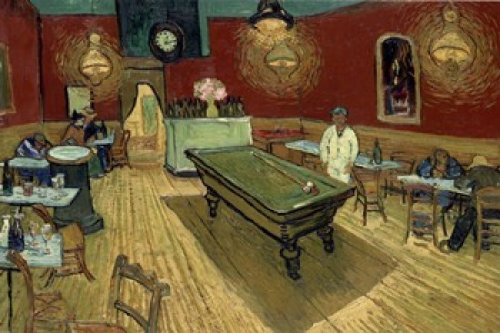 vincent van gogh das nachtcaf an der place lamartine in arles 1888 poster leinwandbild auf. Black Bedroom Furniture Sets. Home Design Ideas