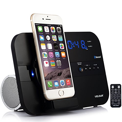 Great Deal! VELOUR Apple Lightning Speaker Dock for iPhone 6S,6,6plus, 5,5s,Mini with Bluetooth FM R...