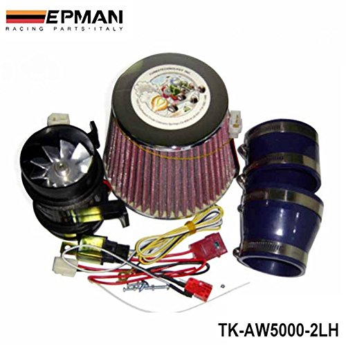 EPMAN Electric Auto Turbo 5000 Supercharger Universal Air Intake Filter Fit Ride on Mower 330w (Iron Fan) (Supercharger Electric Intake compare prices)