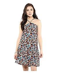 Yepme Abbey Swing Dress - Black & Multicolor -- YPMDRES0252_XS