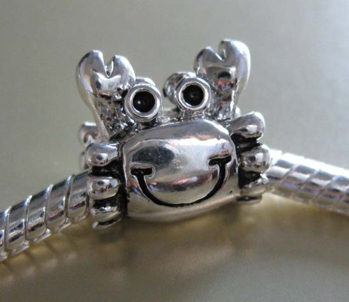 J. Jewelry 925 Solid Sterling Silver Lovely Crab Charm Bead Fit for Pandora Bracelet