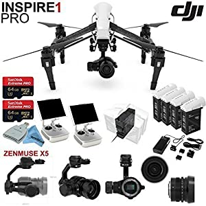 DJl lnspire 1 Pro Quadcopter Drone with eDigitalUSA Ready To Fly Kit: Includes 4 Batteries with Charging Hub (Charges 4 batteries at the same time) and more.