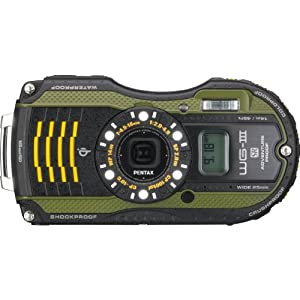 """Pentax WG-3 GPS 16 Megapixel Compact Camera - Green - 3"""" LCD - 4x Optical Zoom - Optical, Electronic (IS) - 4608 x 3456 Image - 1920 x 1080 Video - HDMI - HD Movie Mode"""